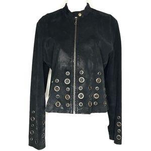XOXO Jackets & Coats - XOXO Leather and Suede Black Jacket H0653